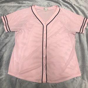 Pink Baseball Jersey